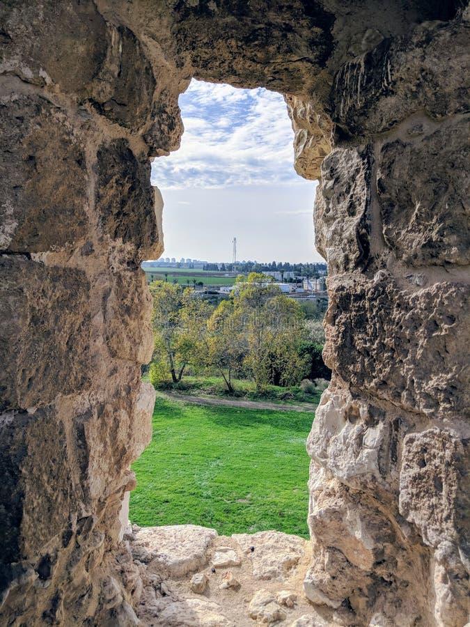 Antipatris fästning royaltyfria foton