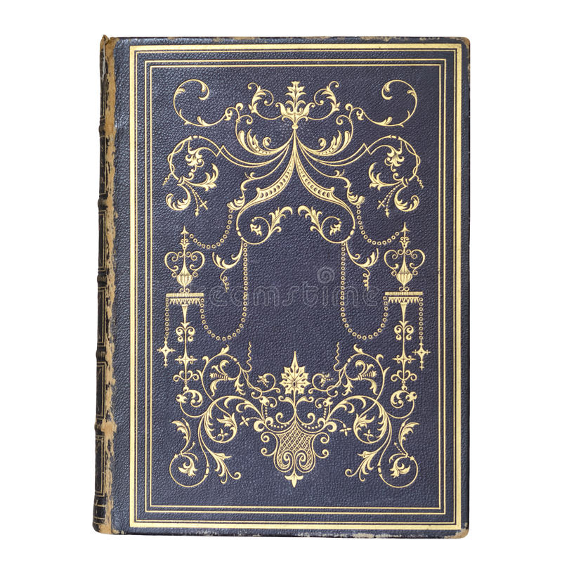 Antiquarian Leather-bound Book Cover stock photo