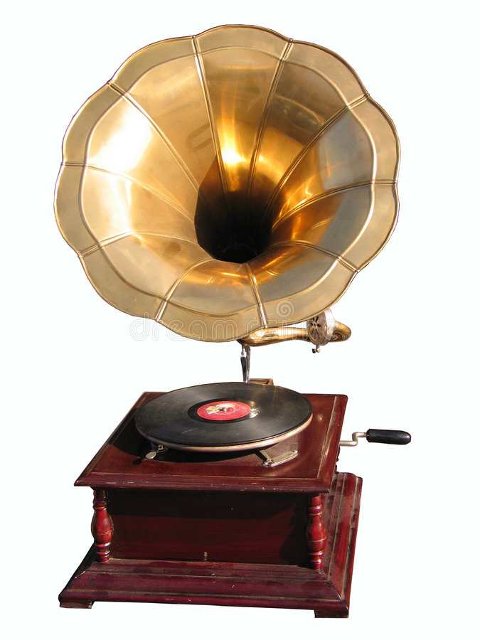 Antiquarian record player royalty free stock image