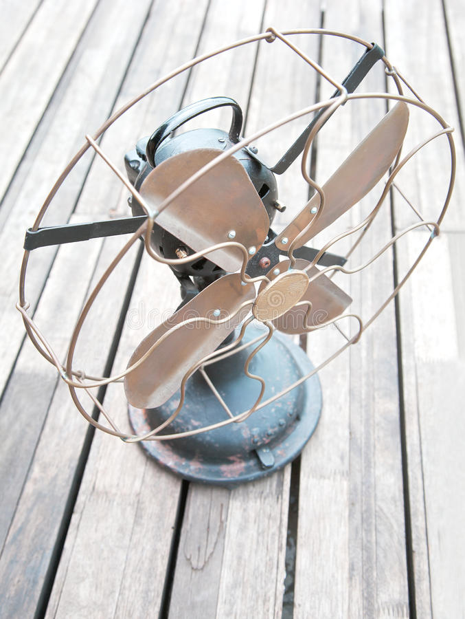 Antiquated Dusty Fan Wooden Decking Stock Image
