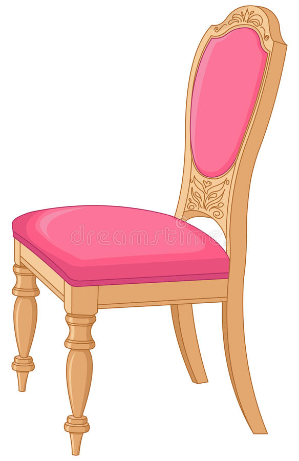 Antique Ð¡hair. Illustration of pink antique chair vector illustration