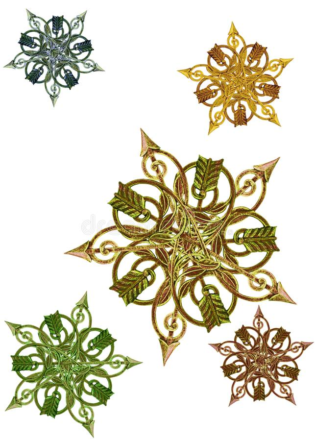antique как звезды metalwork медальонов стоковые изображения
