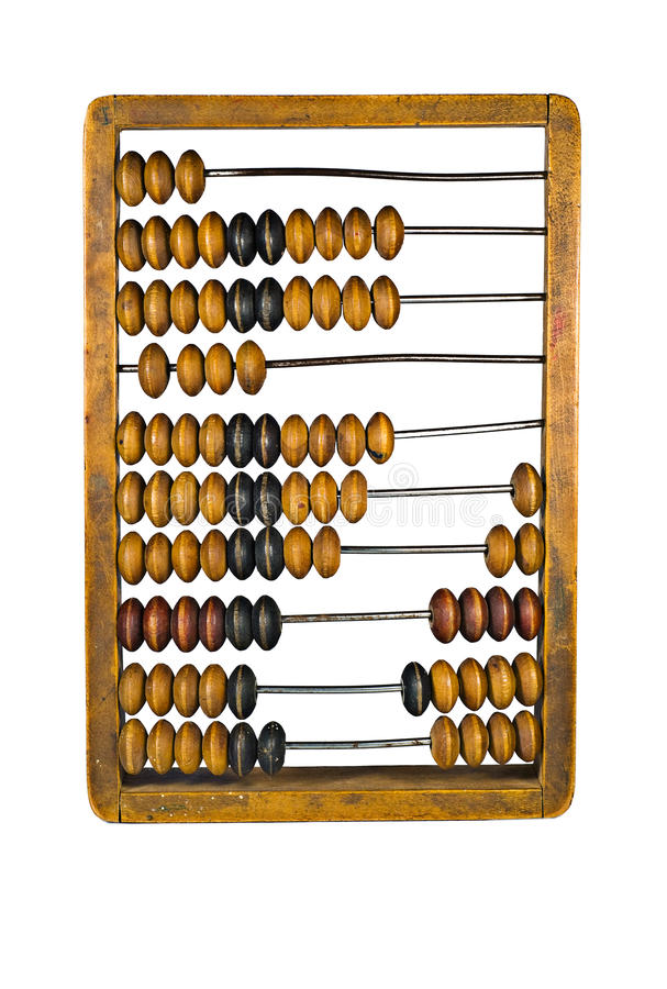 Antique Abacus For Calculating royalty free stock images