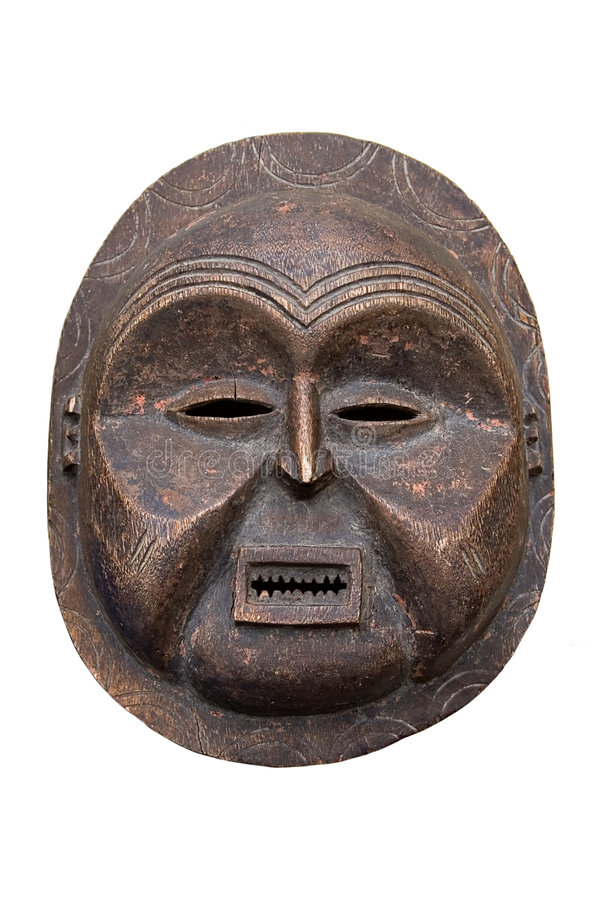 Antique African mask royalty free stock photography