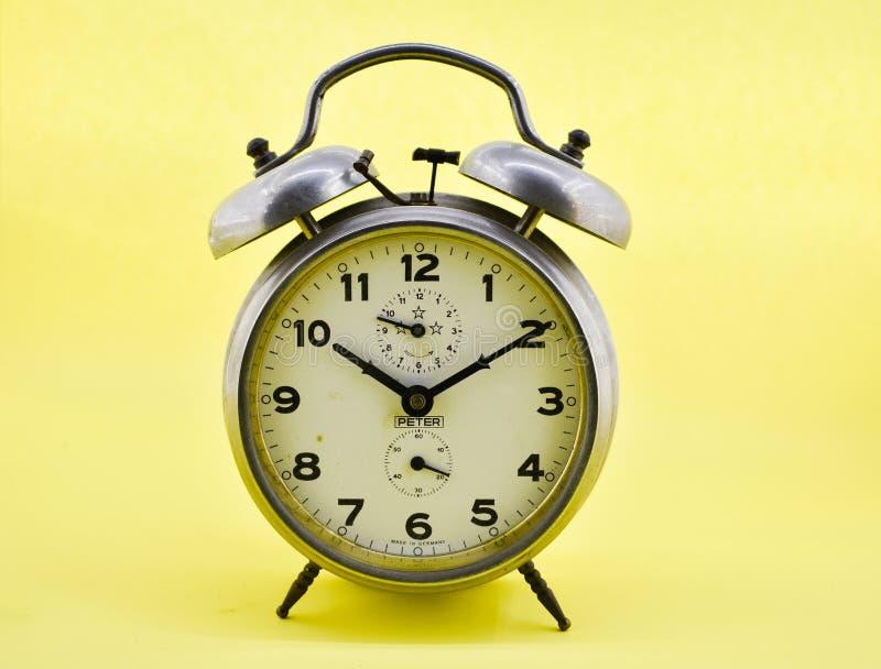 Antique alarm clock stock photography