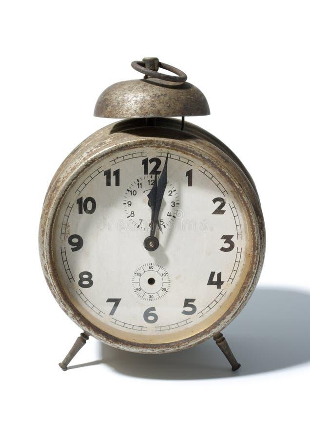 Antique alarm clock stock image