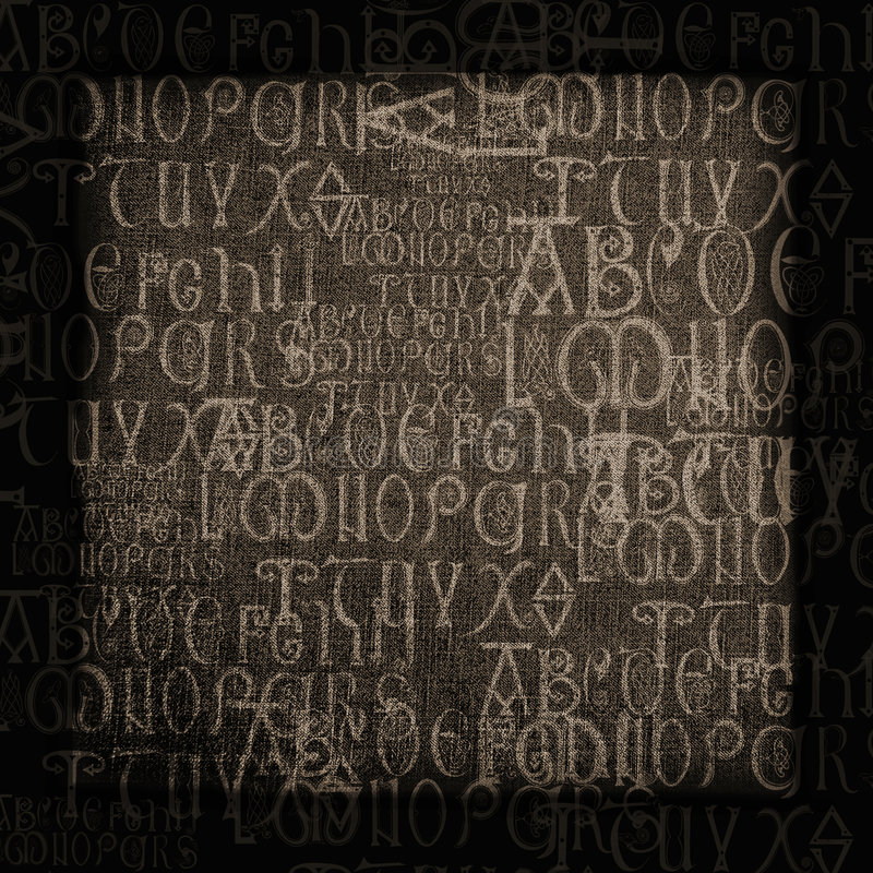 Download Antique Alphabet Background Stock Photo - Image of backgrounds, aged: 3412248