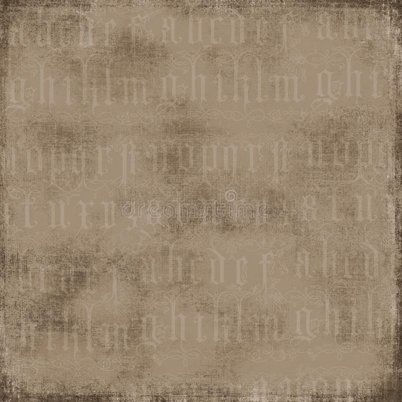 Antique Alphabet Background stock image
