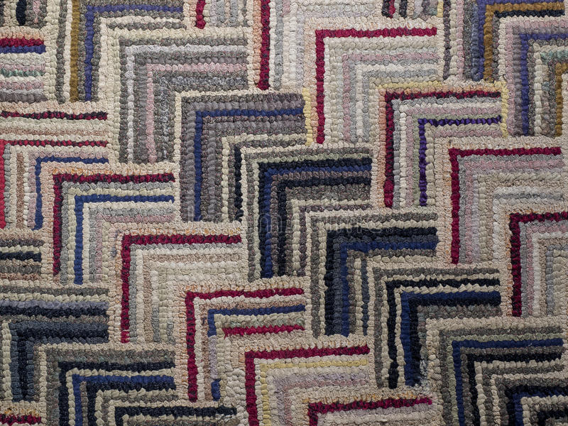 Antique American Hooked Rug Pattern stock images