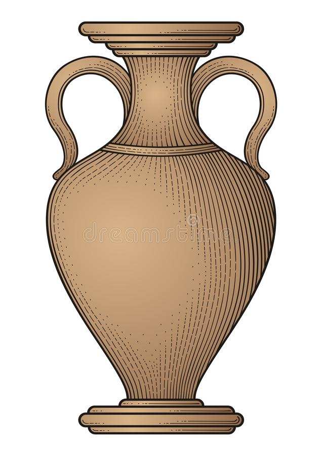 Antique amphora vector illustration
