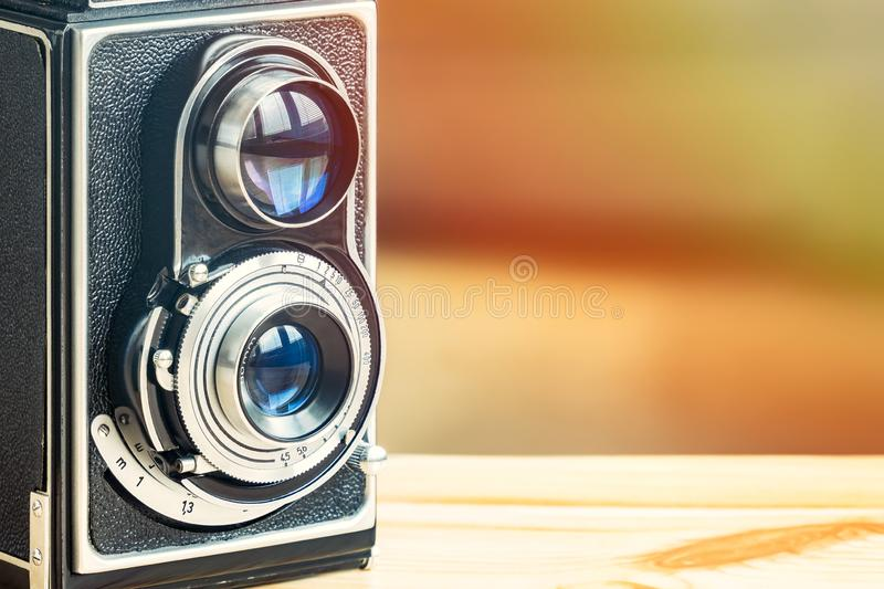 Antique Analog Camera, Old Working Machine royalty free stock images