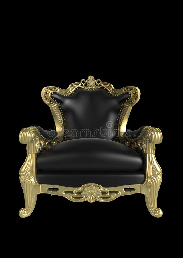 Antique armchair royalty free illustration