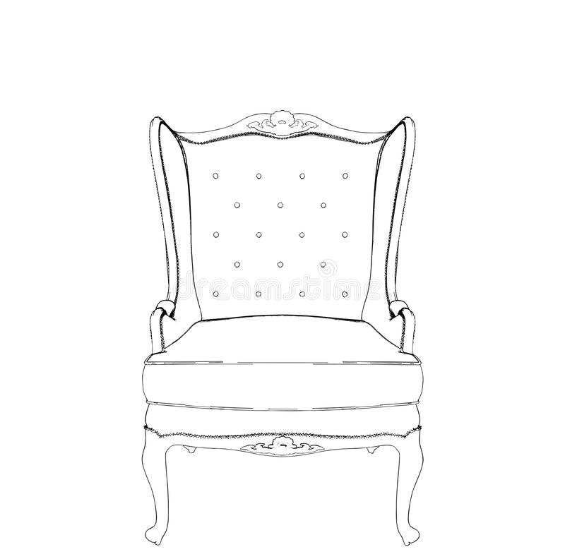 Free Antique Armchair Vector 04 Stock Image - 16693201