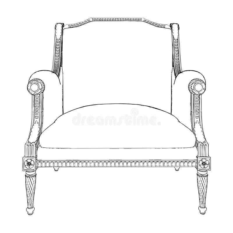 Download Antique Armchair Vector 07 stock vector. Image of baroque - 16772099