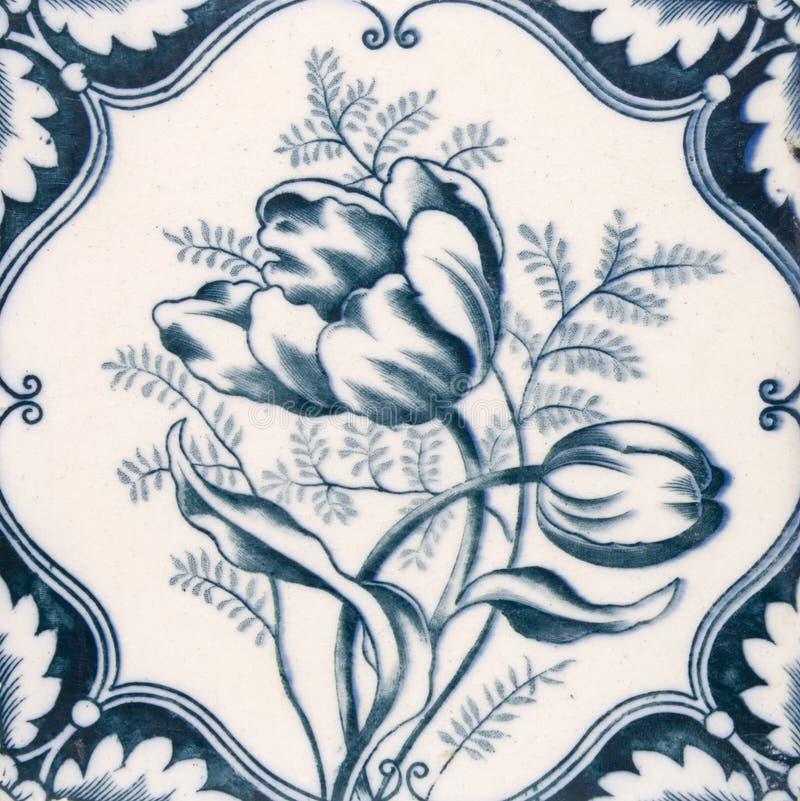 Antique Art Nouveau tile royalty free stock photo
