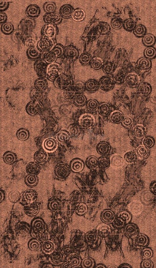 Antique Asian Wallpaper Fabric royalty free illustration