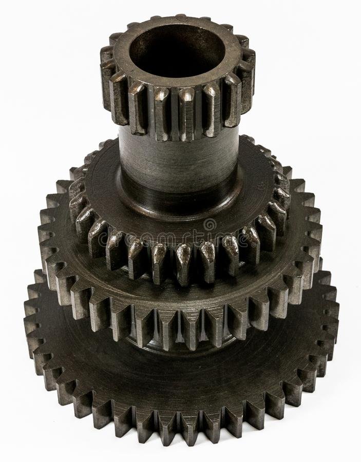 Antique automotive transmission cluster gear. Assembly stock photo