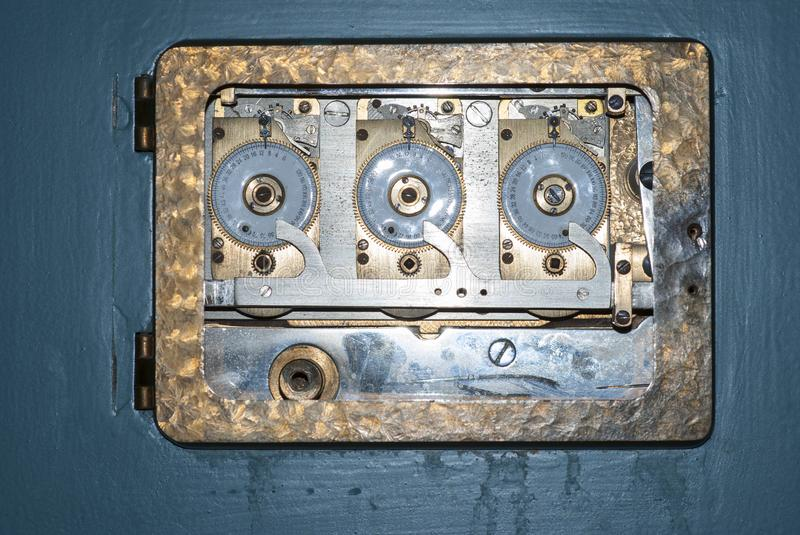 Antique bank safe stock photography