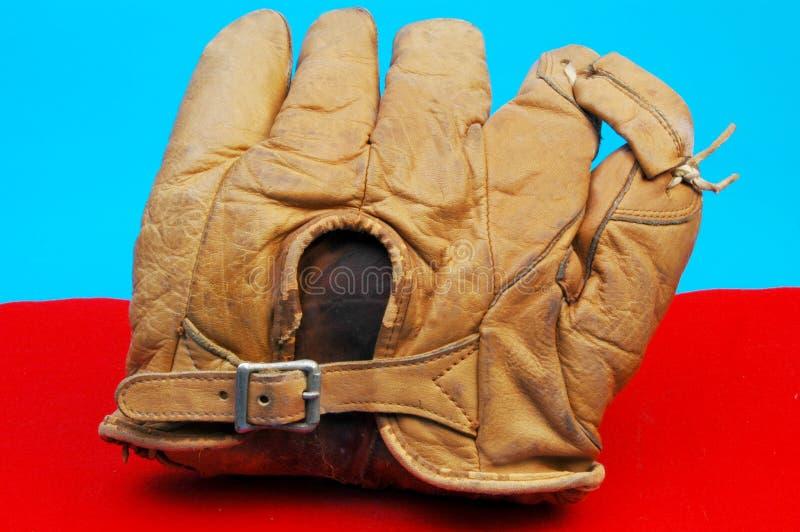 Antique baseball glove royalty free stock image