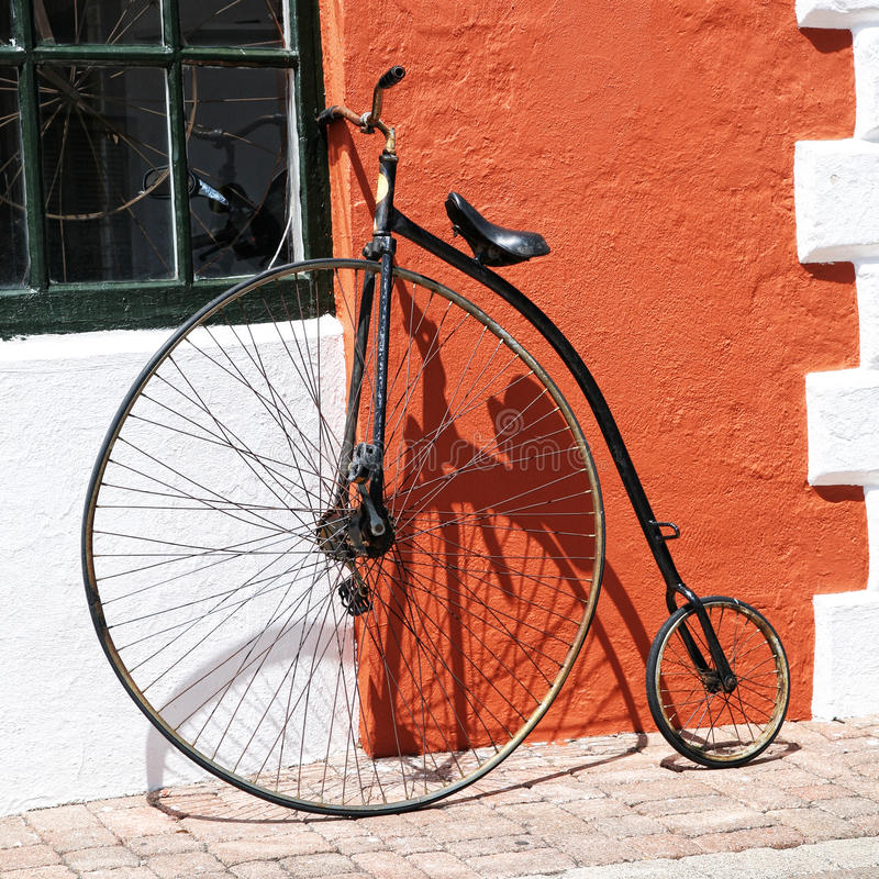 Download Antique Bicycle stock image. Image of seat, iron, handlebar - 21639803