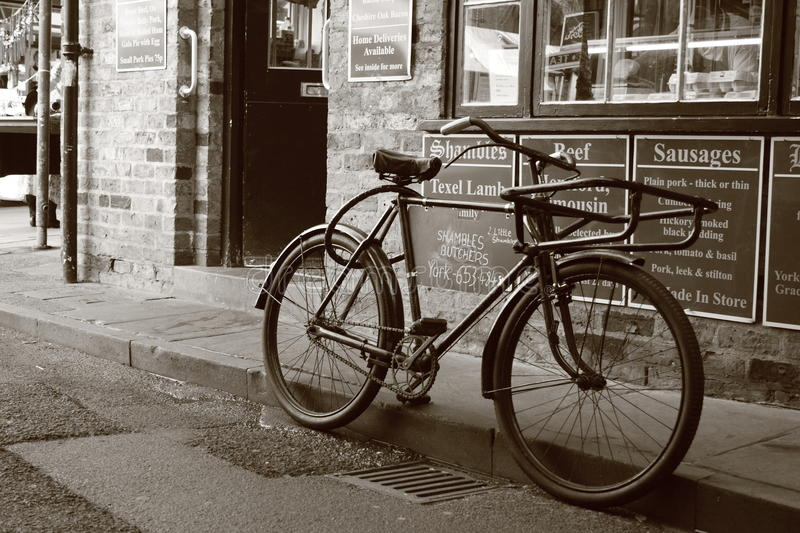 Antique bicycle stock image