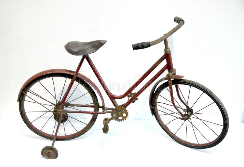 Antique bicycle. royalty free stock images
