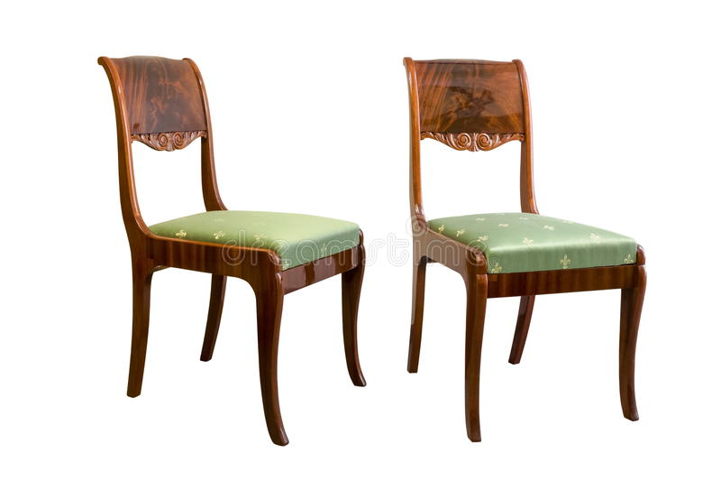 Download Antique Biedermeier Chair With Wood Carving Stock Photo   Image:  90124414