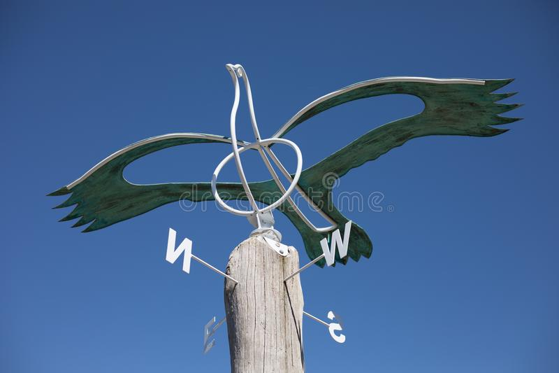 Antique Bird Weather Vein Auckland Botanic Gardens royalty free stock image