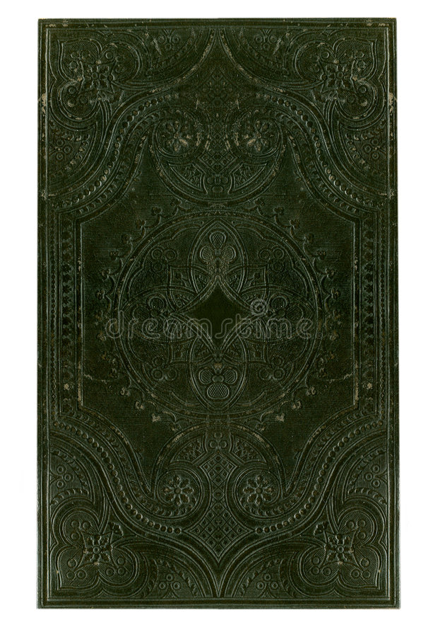 Antique black book cover stock photography