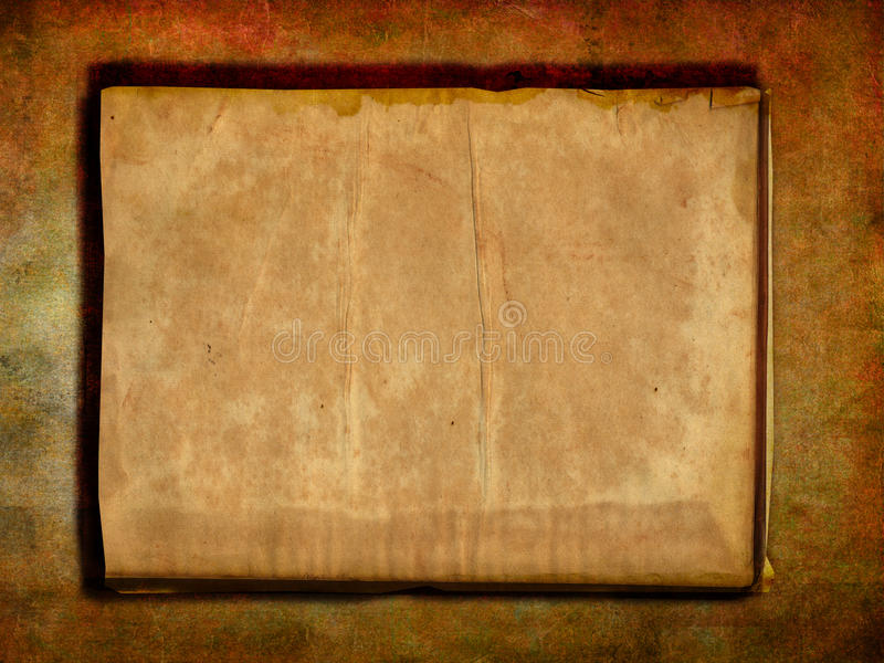 Antique blank page royalty free illustration