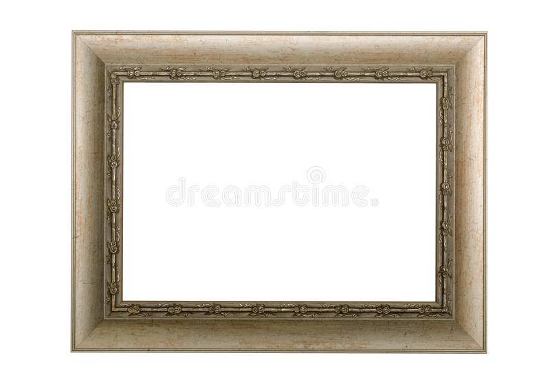 Antique blank photo frame. Placard. Poster border. royalty free stock photos