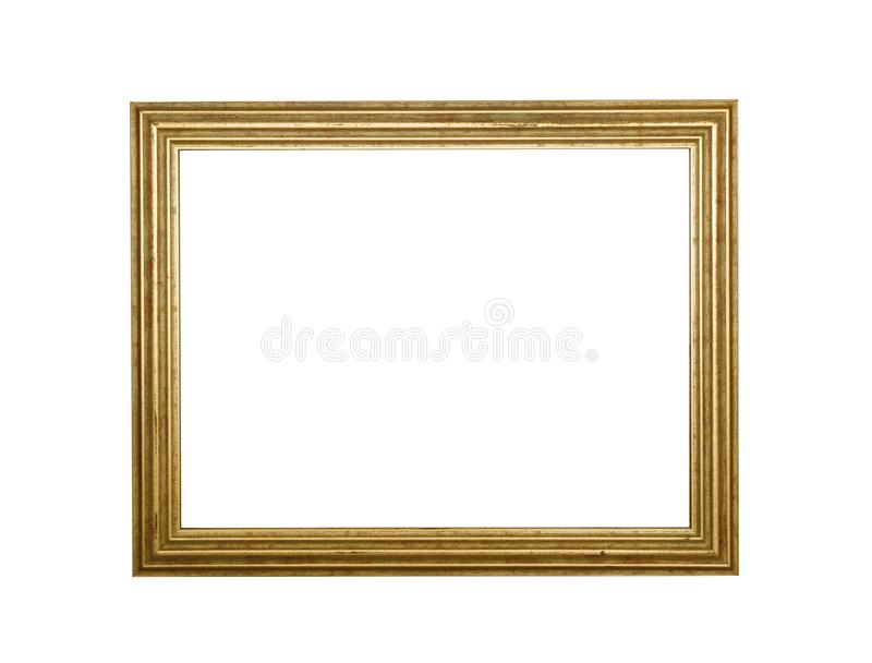 Antique blank photo frame. Placard. Poster border. stock image