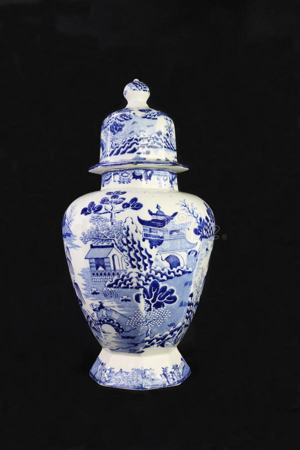 Free Antique Blue And White Urn Stock Images - 13974124