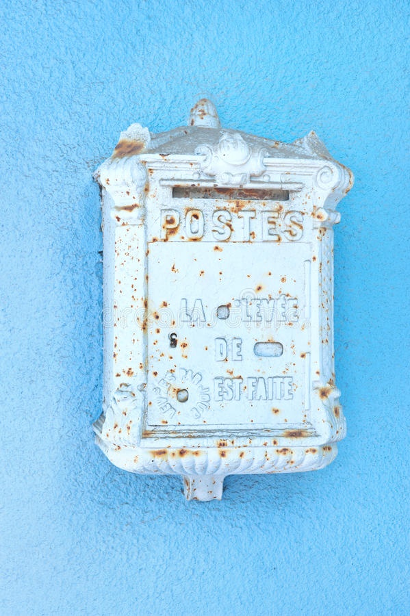Download Antique blue mailbox stock photo. Image of european, iron - 18986462