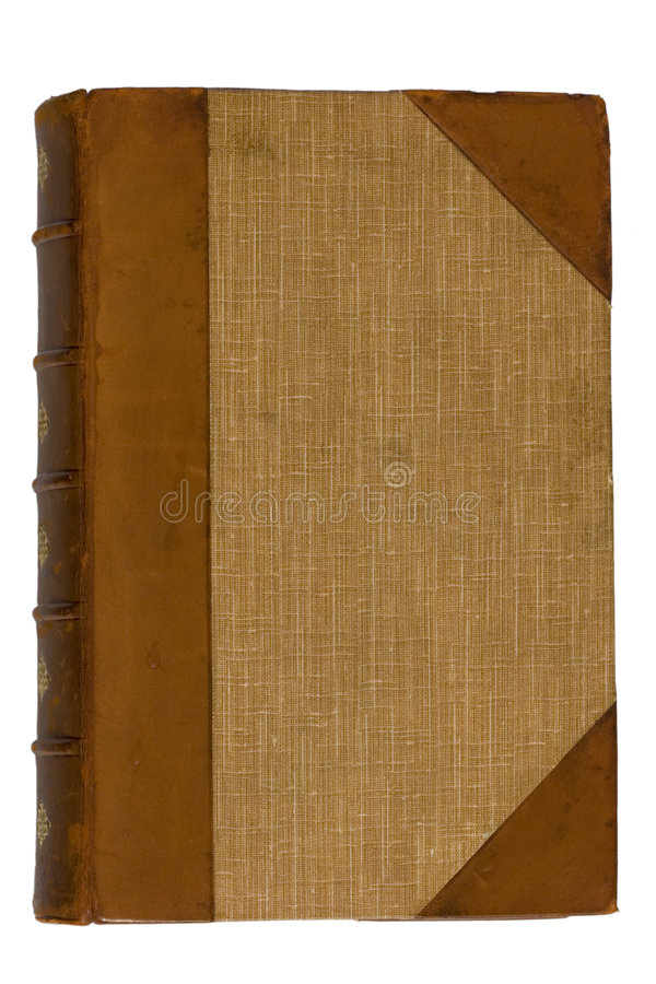 Antique Book 1. An old, aged antique book royalty free stock image