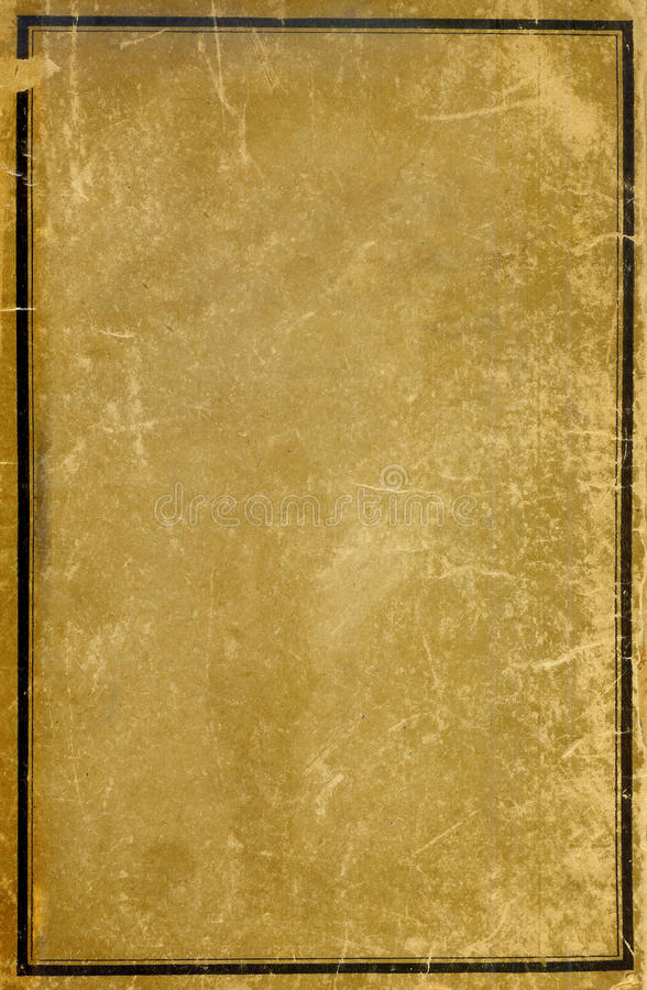 Vintage Book Cover Border : Antique book cover stock photo image of border