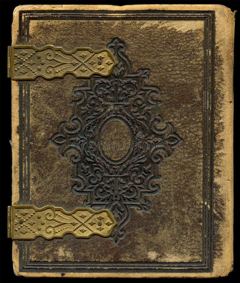Antique book cover. The a decorative motif royalty free stock image