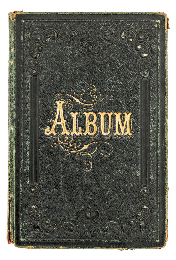 Antique book with golden decoration vintage photo album for Antique books for decoration