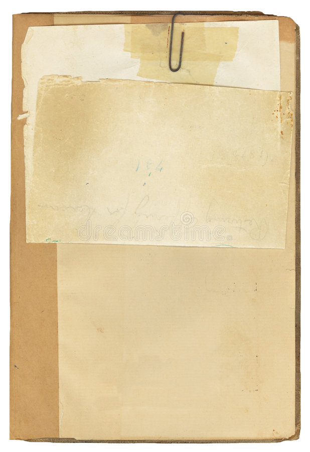 Antique Book and Note Paper royalty free stock photography