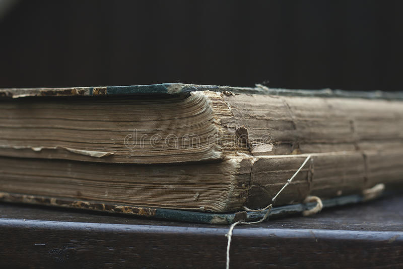 Antique book. Old book close up, stock photo royalty free stock image
