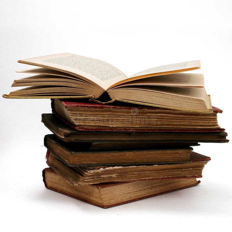 Download Antique Book Stack stock image. Image of books, white, over - 100627