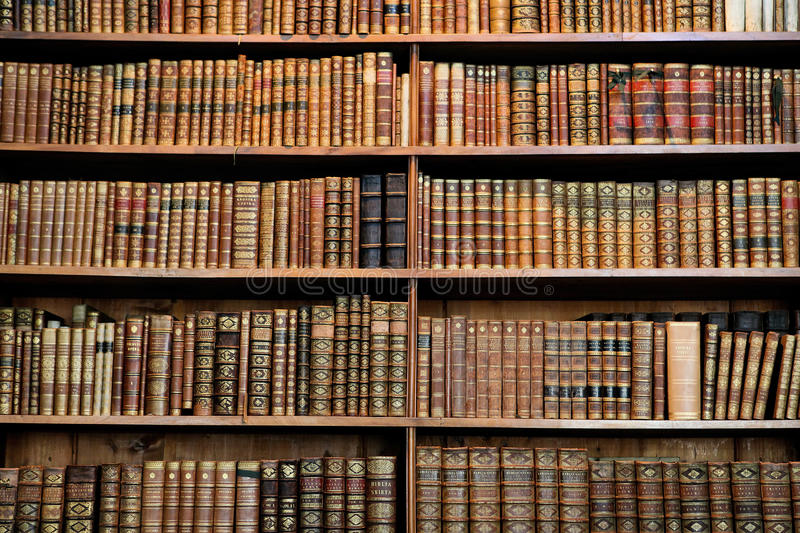 Antique books stock image