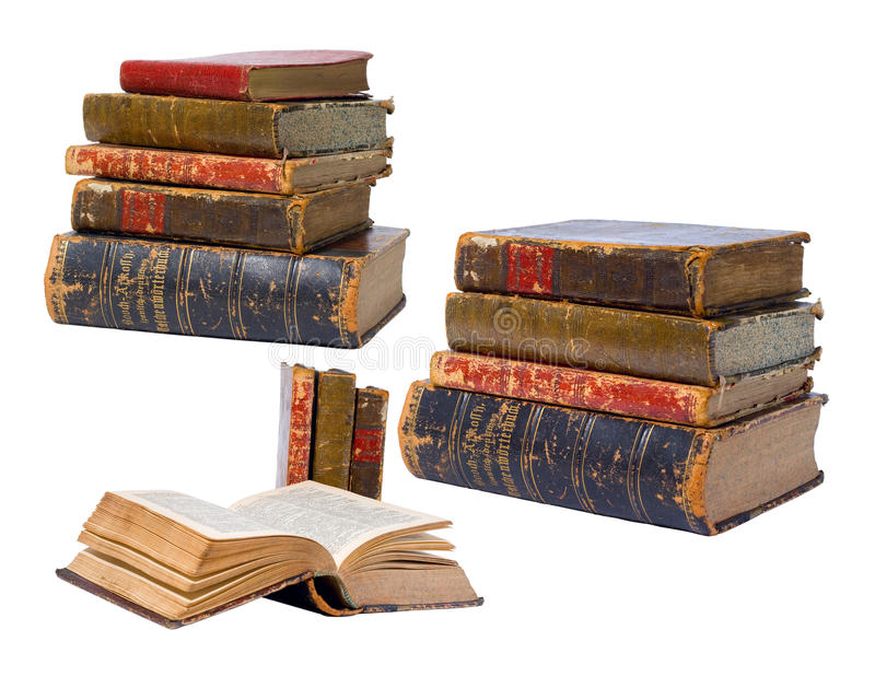 Download Antique books isolated stock photo. Image of backdrop - 24982944