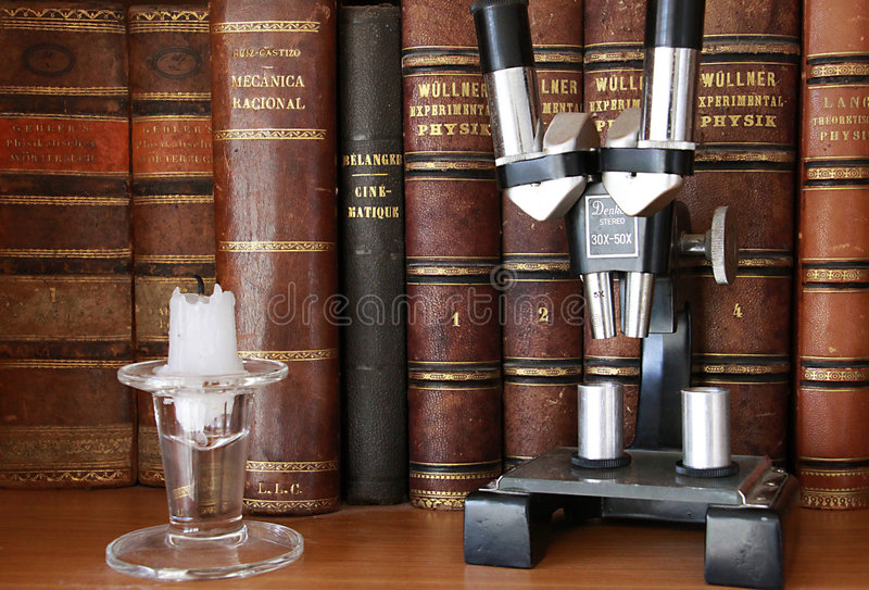 Download Antique Books And Microscope Stock Photo - Image: 6983912