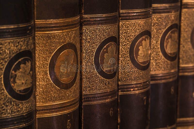 Antique books 4 stock photos