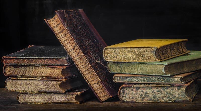 Antique books 8 stock image