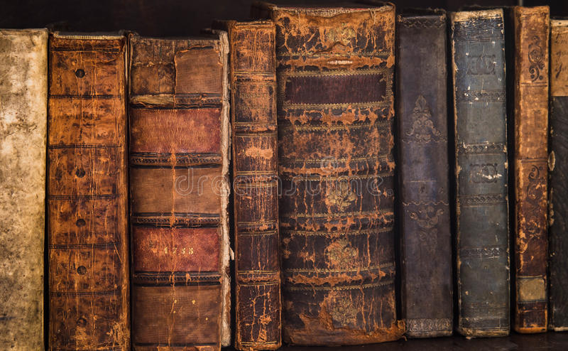 Antique books 9 stock photos
