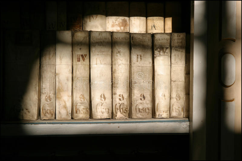 Antique Books in the Strahov Monastery stock photos
