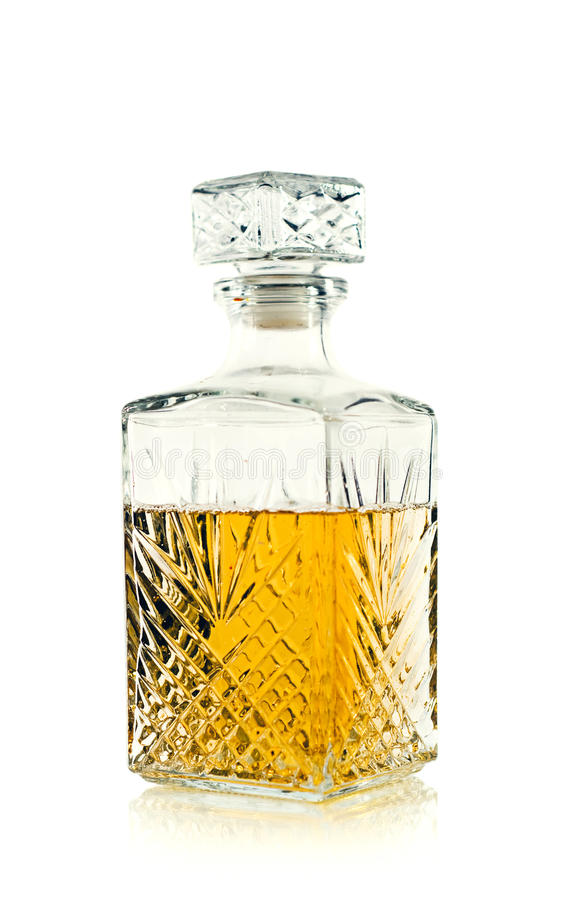 Download Antique Bottle Of Whiskey / Scotch On White Stock Image - Image: 13161009