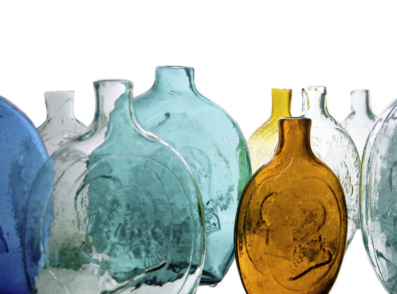 Download Antique Bottles stock image. Image of yellow, blue, abstract - 161339